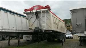 semitrailer used with round body in steel